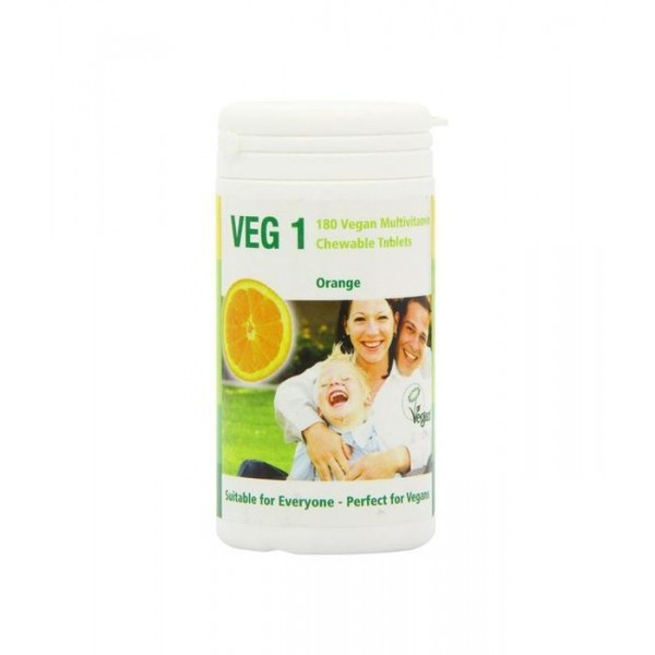 Veg1 Vegan Multivitamin Chewable Tabs - Orange (180tabs)